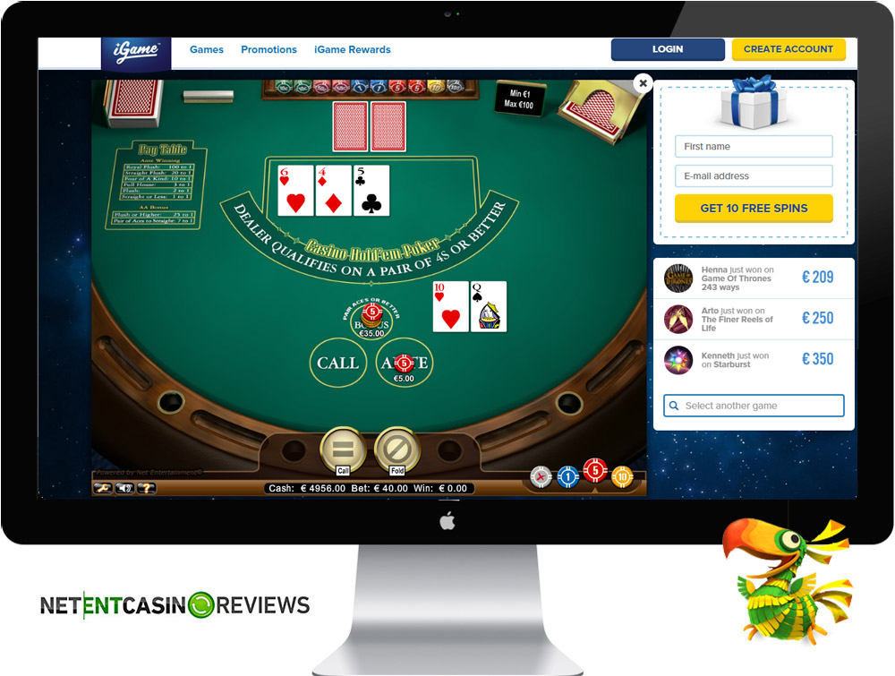 Casino games at iGame casino
