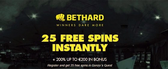 200 bonus + 25 wagerfree spins at BetHard