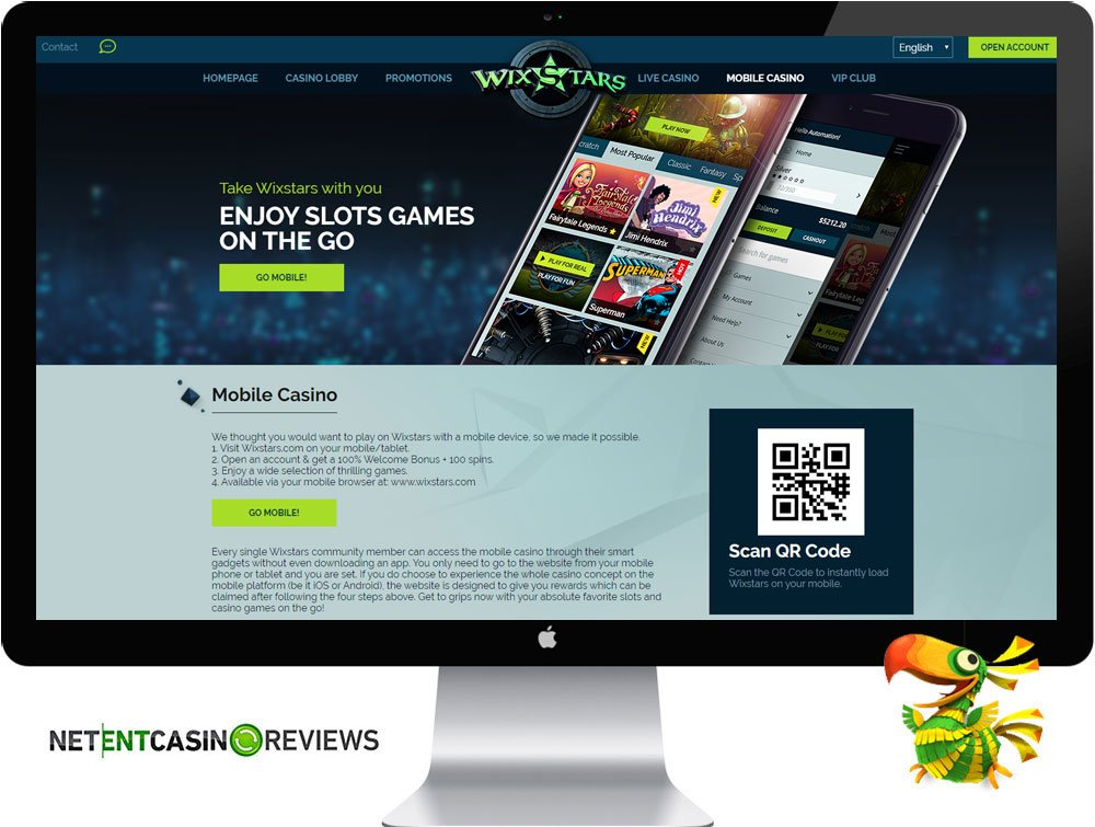 wixstars casino mobile visual